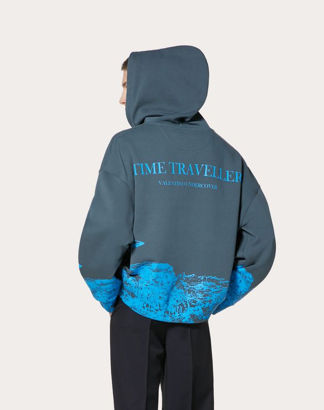 SWEATSHIRT WITH TIME TRAVELLER PRINT