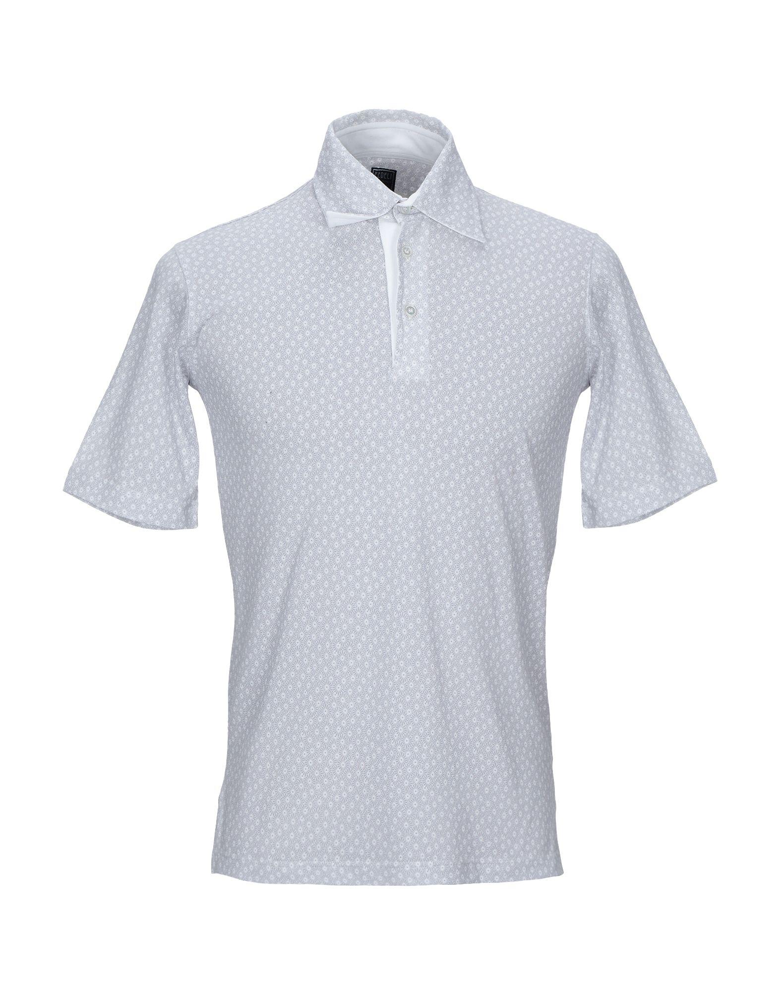 《期間限定セール中》FEDELI メンズ ポロシャツ ライトグレー 48 コットン 100%