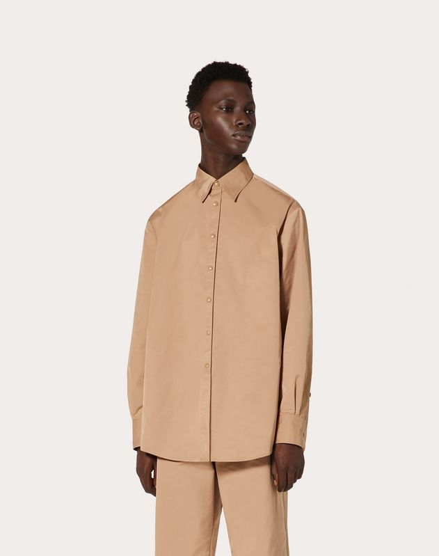 SEMI OVERSIZED NYLON SHIRT