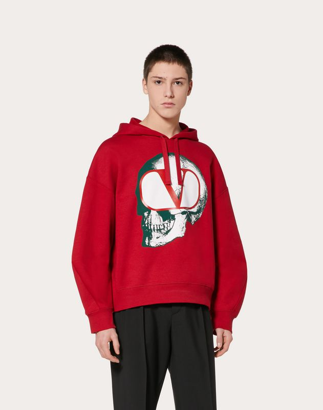 SWEATSHIRT WITH GO SKULL PRINT