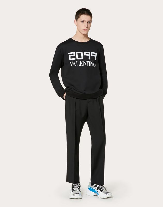 SWEATSHIRT WITH 2099 VALENTINO PRINT