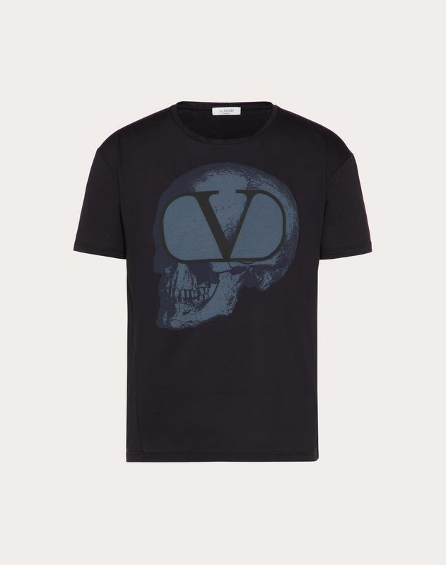 T-SHIRT WITH GO SKULL PRINT