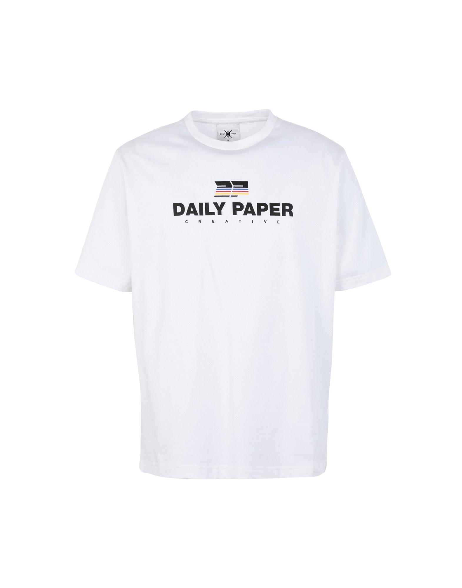 《期間限定セール中》DAILY PAPER メンズ T シャツ ホワイト S コットン 100% FARR