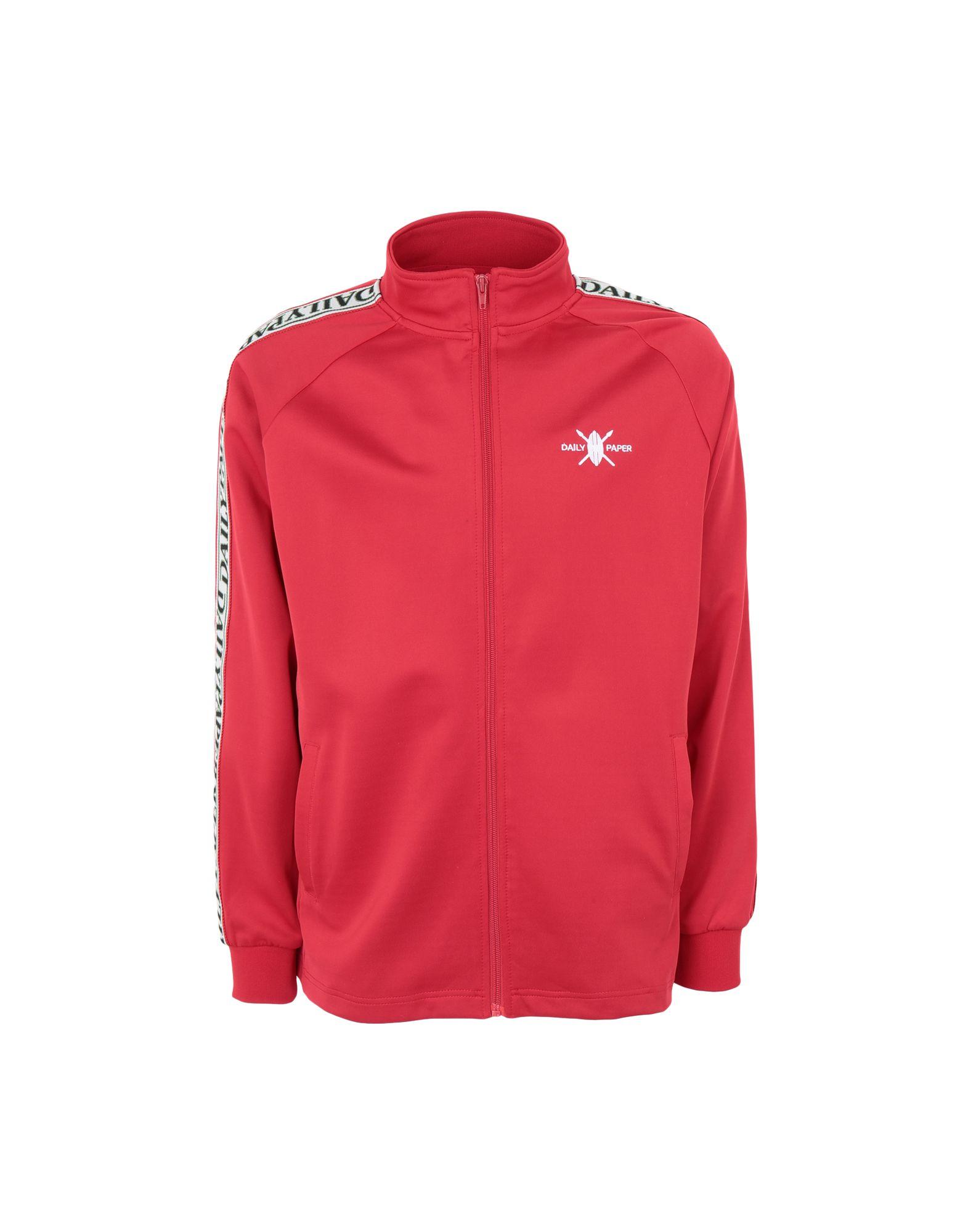 《期間限定セール中》DAILY PAPER メンズ スウェットシャツ レッド S ポリエステル 95% / ポリウレタン 5% TAPEVEST