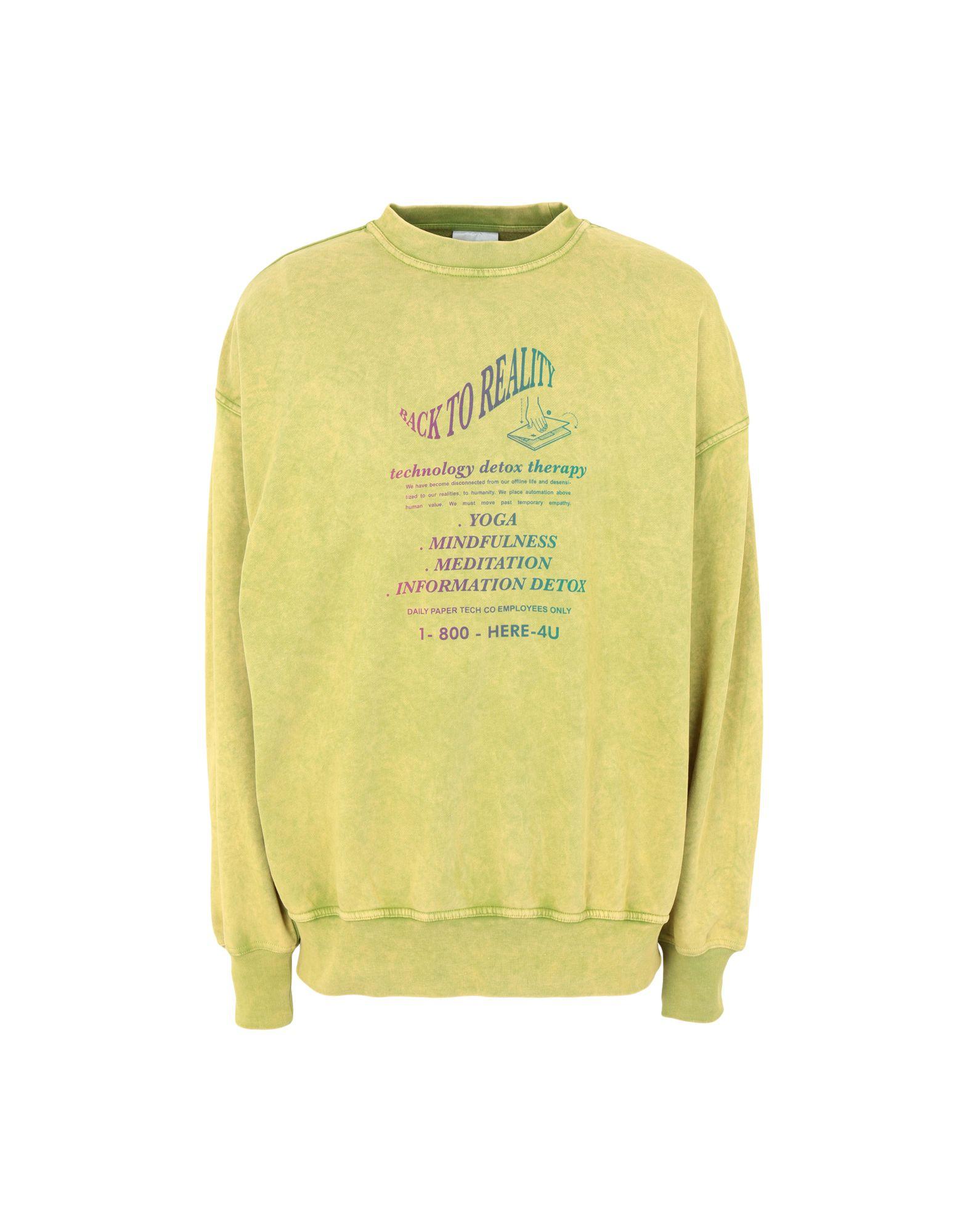 《期間限定セール中》DAILY PAPER メンズ スウェットシャツ ビタミングリーン S コットン 100% FADU 2