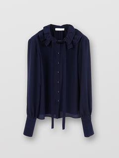 Neck-tie blouse