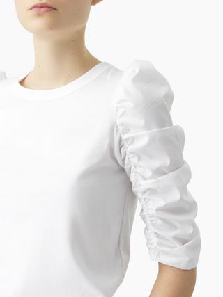 Puff-shoulder top
