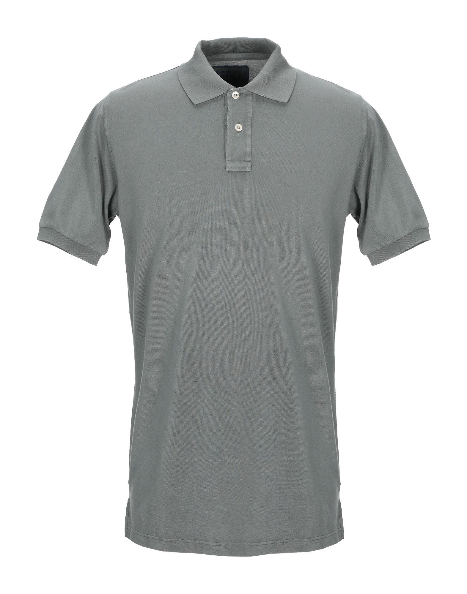 《期間限定セール中》FEDELI メンズ ポロシャツ ミリタリーグリーン 52 コットン 100%