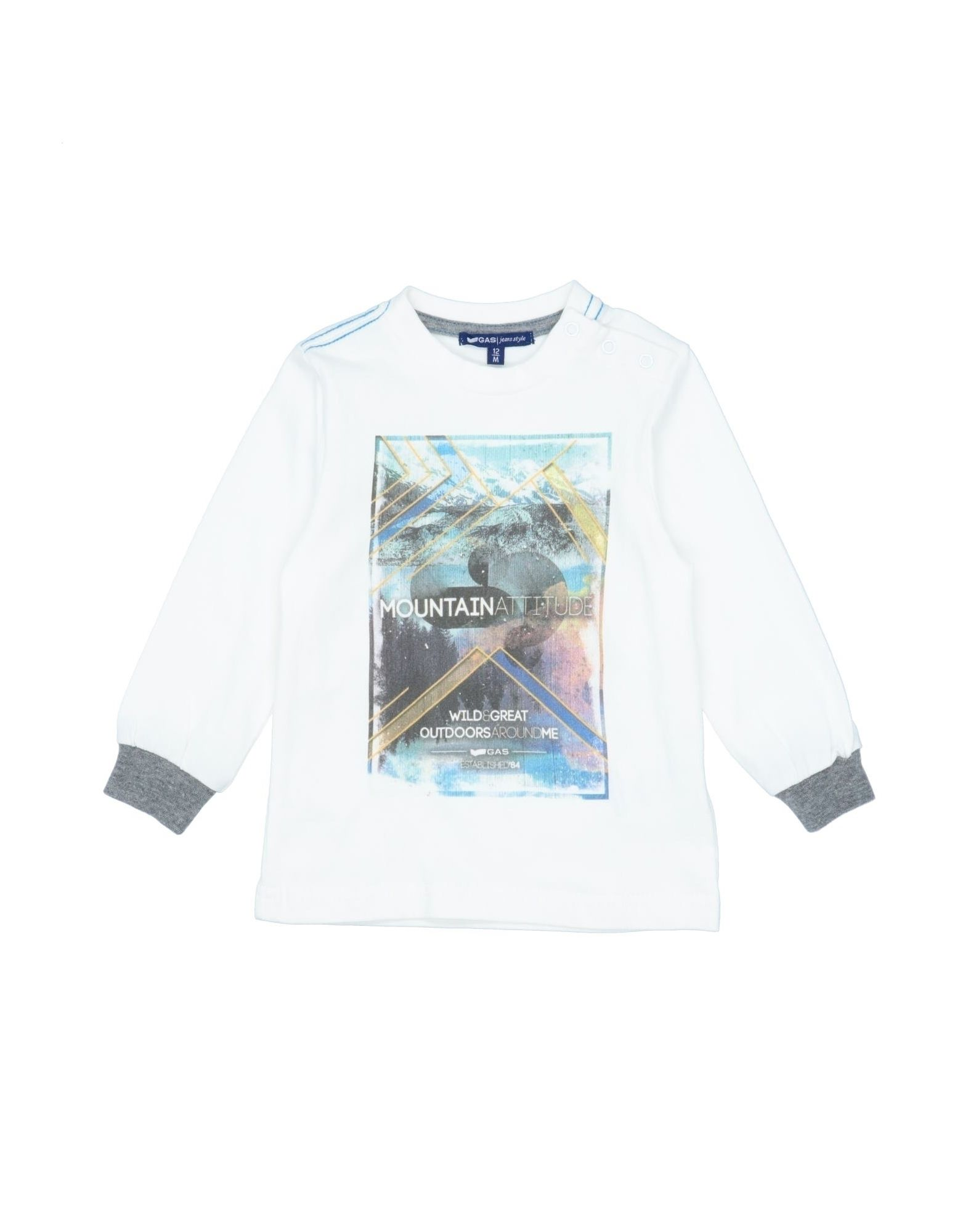 Gas Kids' T-shirts In White