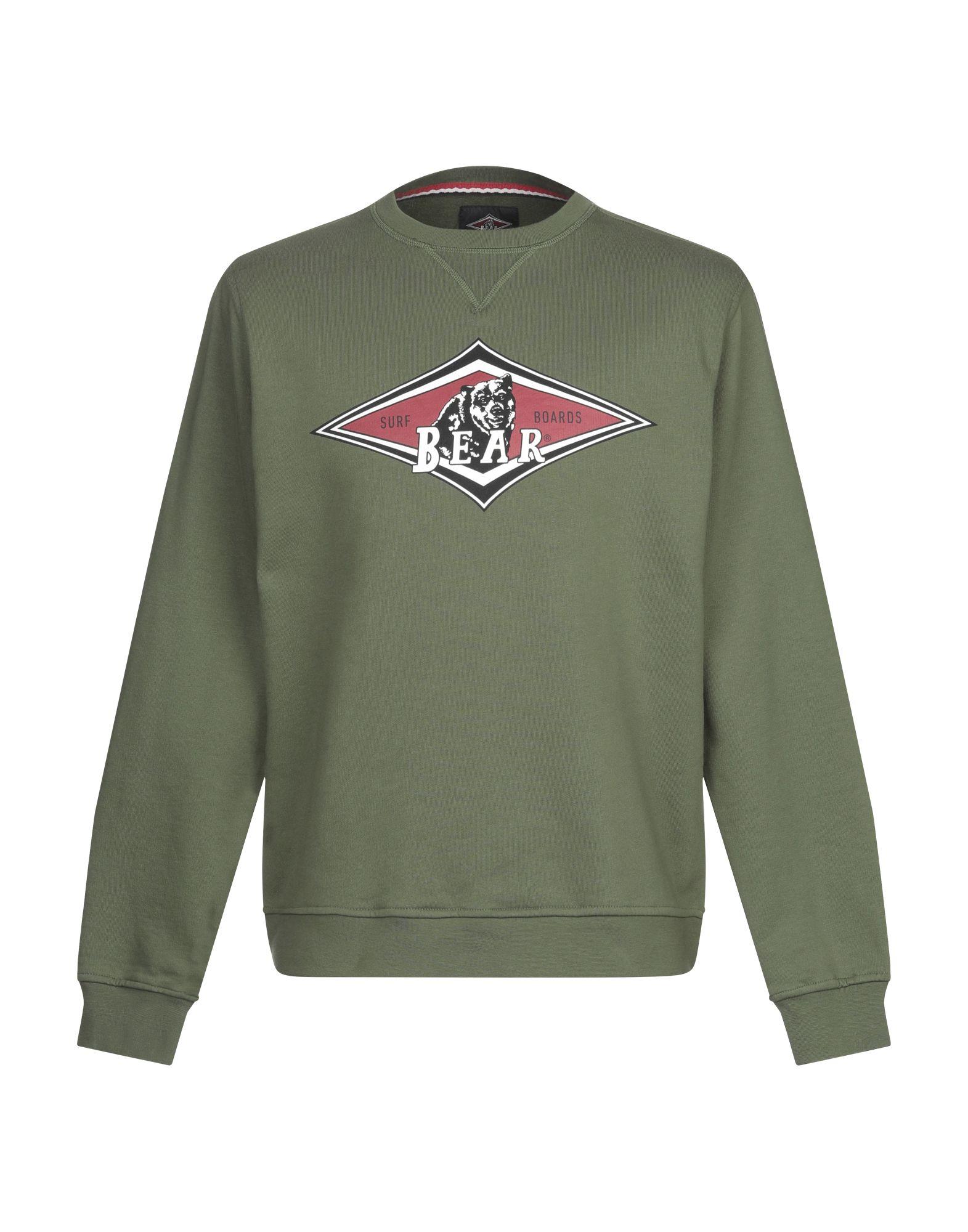 《セール開催中》BEAR メンズ スウェットシャツ ミリタリーグリーン XL コットン 100%