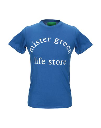 Фото - Женскую футболку MISTER GREEN синего цвета