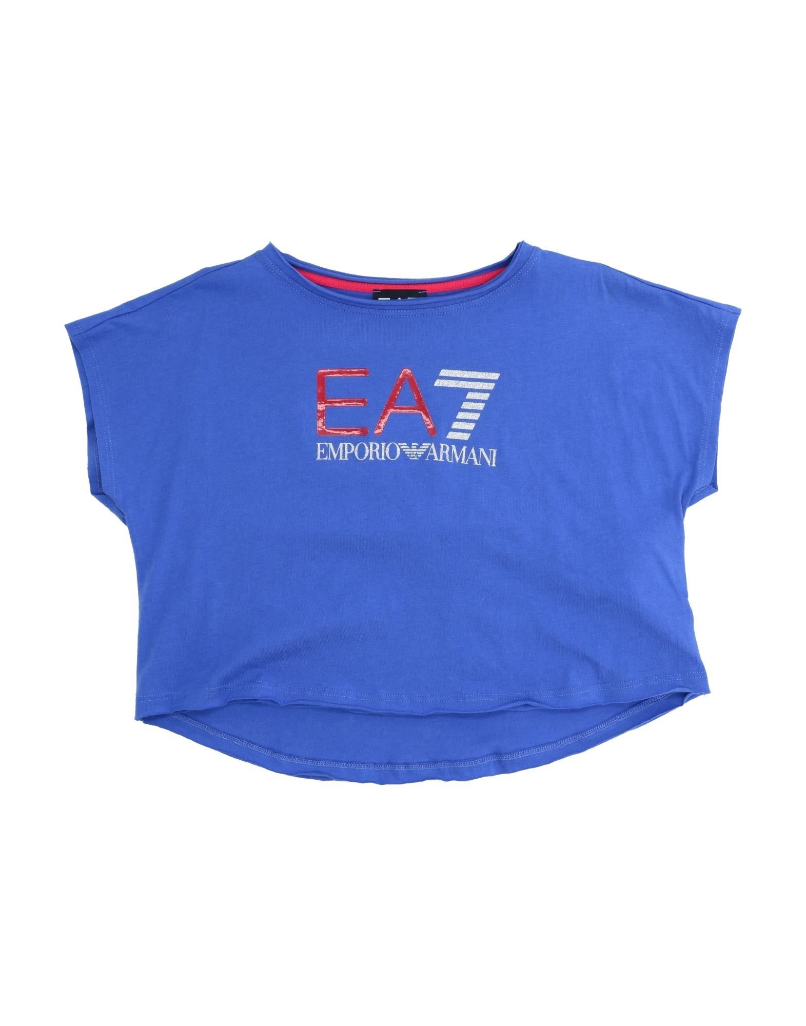 Ea7 Kids' T-shirts In Blue