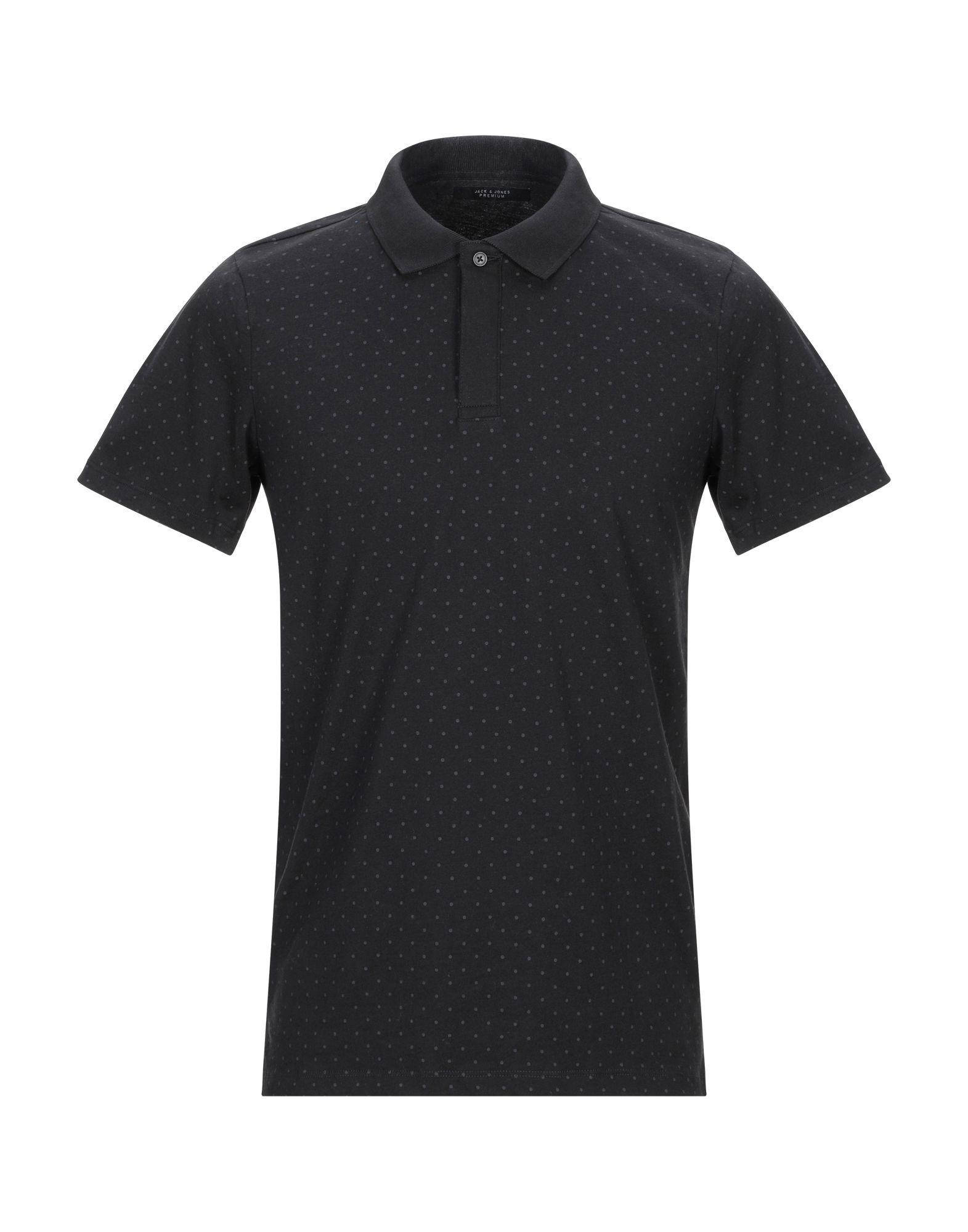 《送料無料》JACK & JONES PREMIUM メンズ ポロシャツ ブラック S コットン 100%