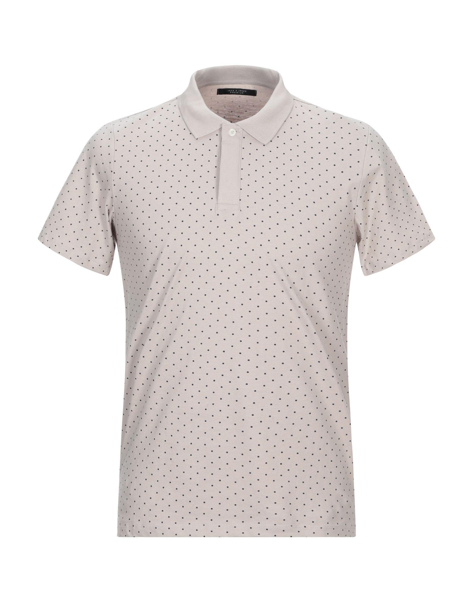 《期間限定セール開催中!》JACK & JONES PREMIUM メンズ ポロシャツ ベージュ S コットン 100%