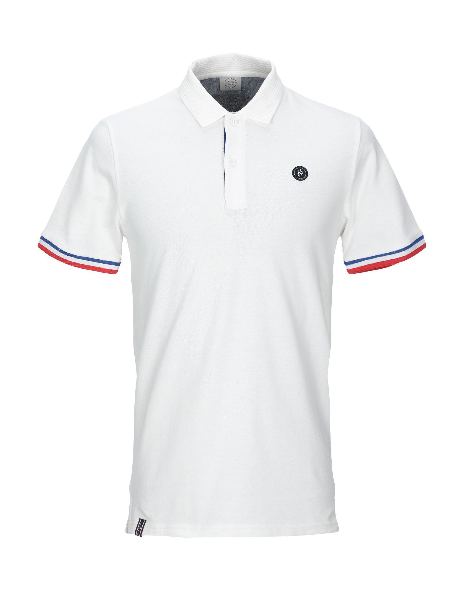 《送料無料》JACK & JONES ORIGINALS メンズ ポロシャツ ホワイト S コットン 100%