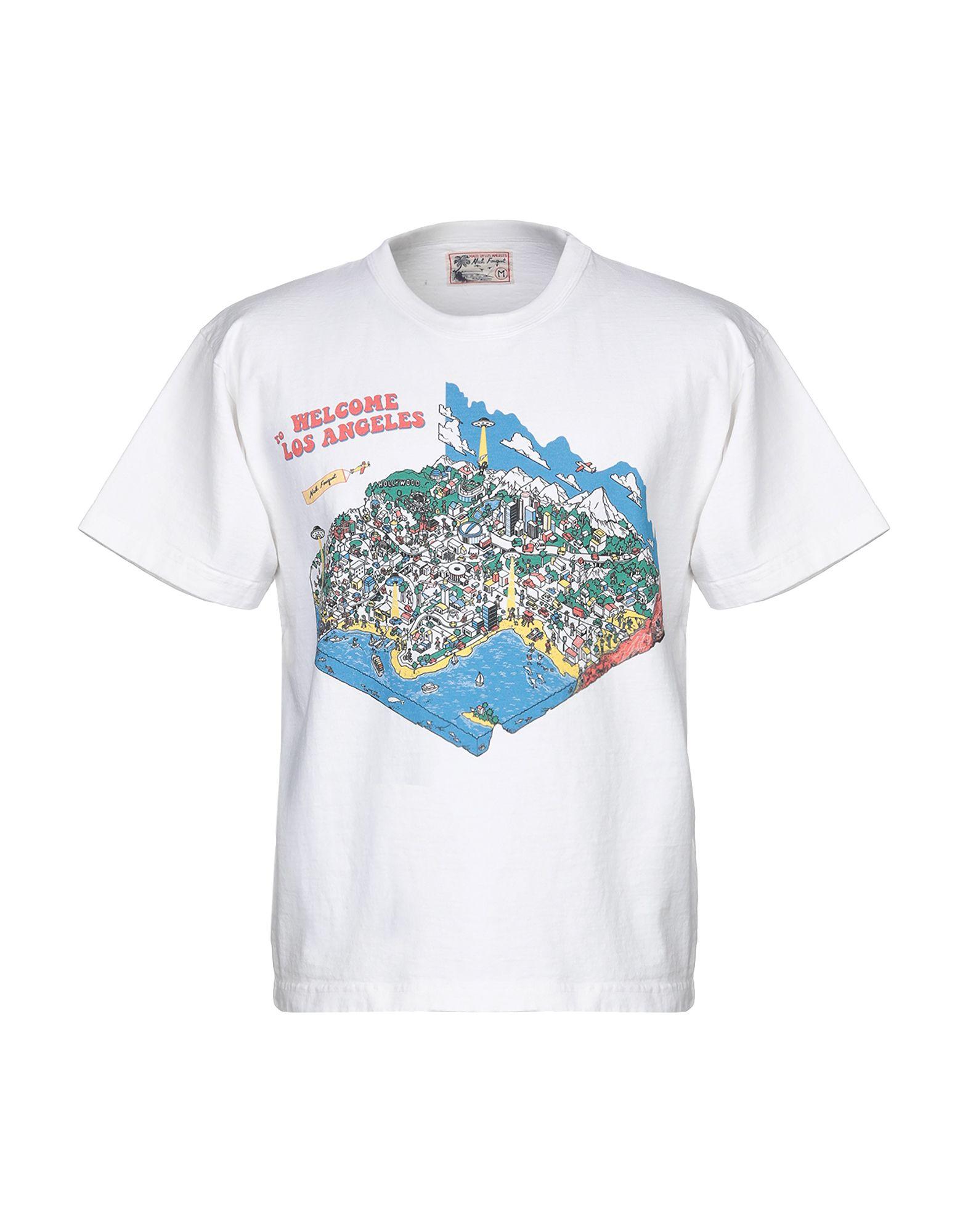 《期間限定セール開催中!》NICK FOUGUET メンズ T シャツ ホワイト S コットン 100%