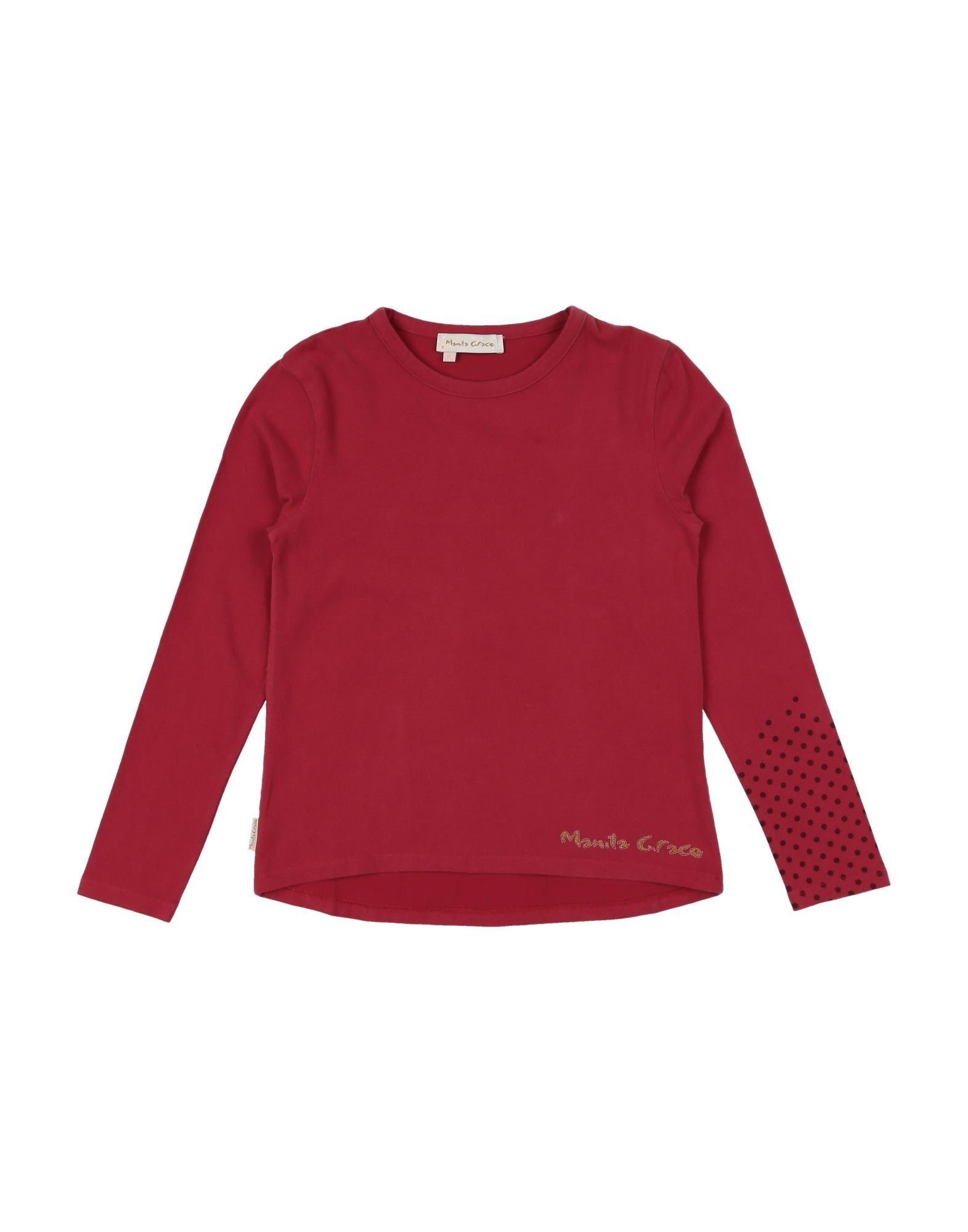 Manila Grace Kids' T-shirts In Red