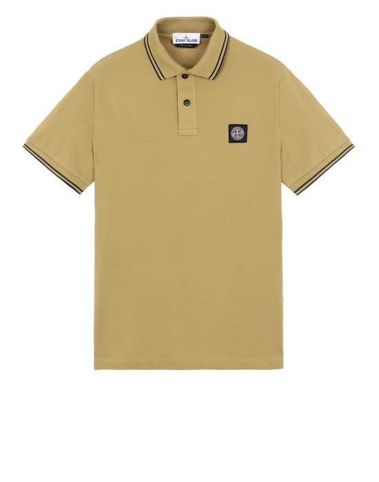 STONE ISLAND 22S18 폴로 셔츠 남성 머스터드