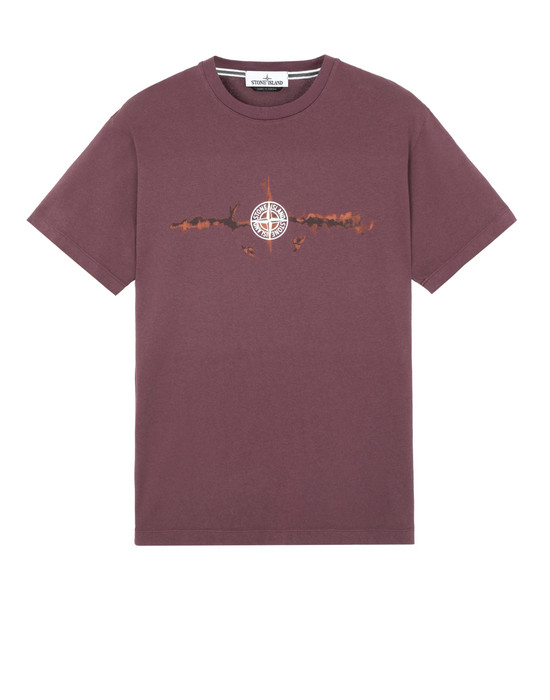STONE ISLAND 2NS85 'GRAPHIC SIX'  Short sleeve t-shirt Man Dark Burgundy