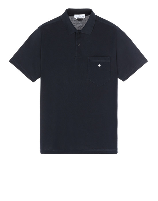 STONE ISLAND 21212 Polo shirt Man Blue