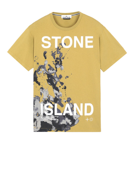 STONE ISLAND 2NS86 'GRAPHIC SEVEN' Short sleeve t-shirt Man Mustard