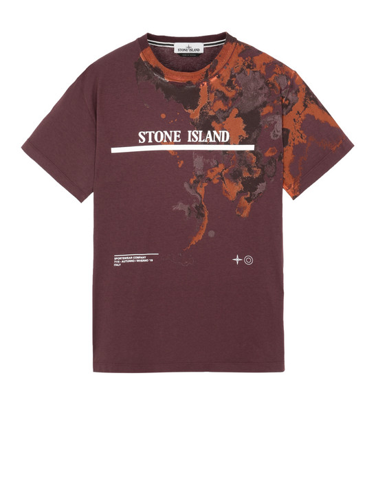 STONE ISLAND 2NS87 'GRAPHIC EIGHT'  Short sleeve t-shirt Man Dark Burgundy