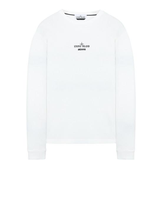 STONE ISLAND 2ML91 STONE ISLAND ARCHIVIO PROJECT_JOCK 23 Long sleeve t-shirt Man Natural White