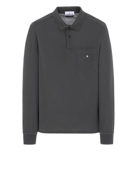 STONE ISLAND 21112 Polo shirt Man Dark Grey