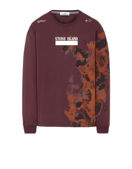 STONE ISLAND 2ML88 'GRAPHIC NINE'  긴소매 티셔츠 남성 다크 버건디