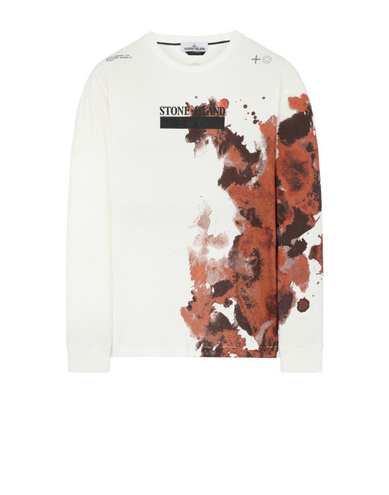 STONE ISLAND 2ML88 'GRAPHIC NINE'  Long sleeve t-shirt Man Natural White