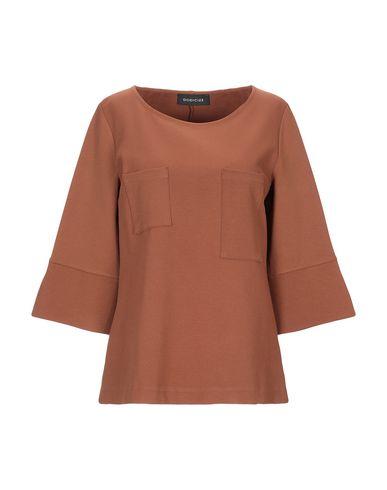 Фото - Женскую футболку DODICI22 коричневого цвета