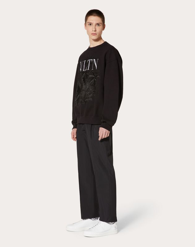 VLTN sweatshirt with embroidered detailing in collaboration with Doublet