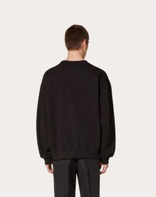 VLTN sweatshirt with fringe detail in collaboration with Doublet