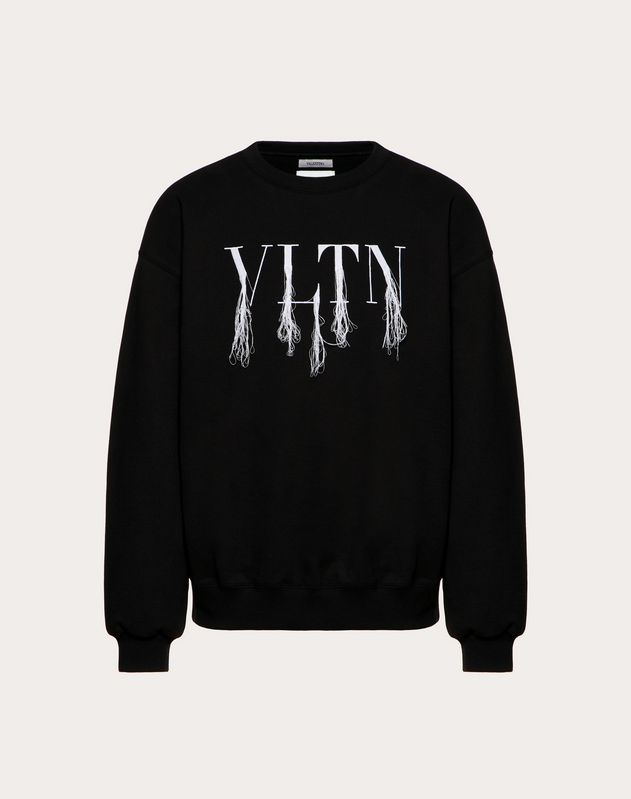 Sweat-shirt VLTN à franges, confectionné en collaboration avec Doublet