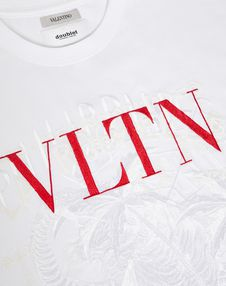 VLTN T-shirt with embroidered detailing in collaboration with Doublet