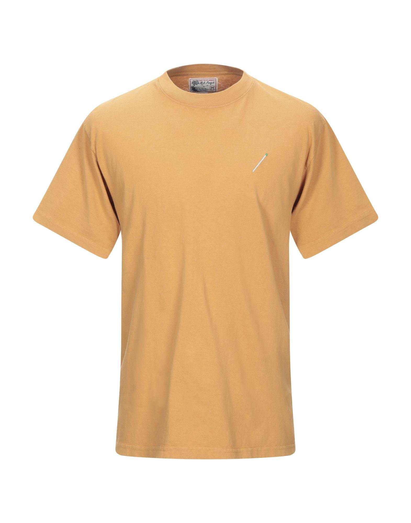《期間限定セール開催中!》NICK FOUGUET メンズ T シャツ キャメル S コットン 100%