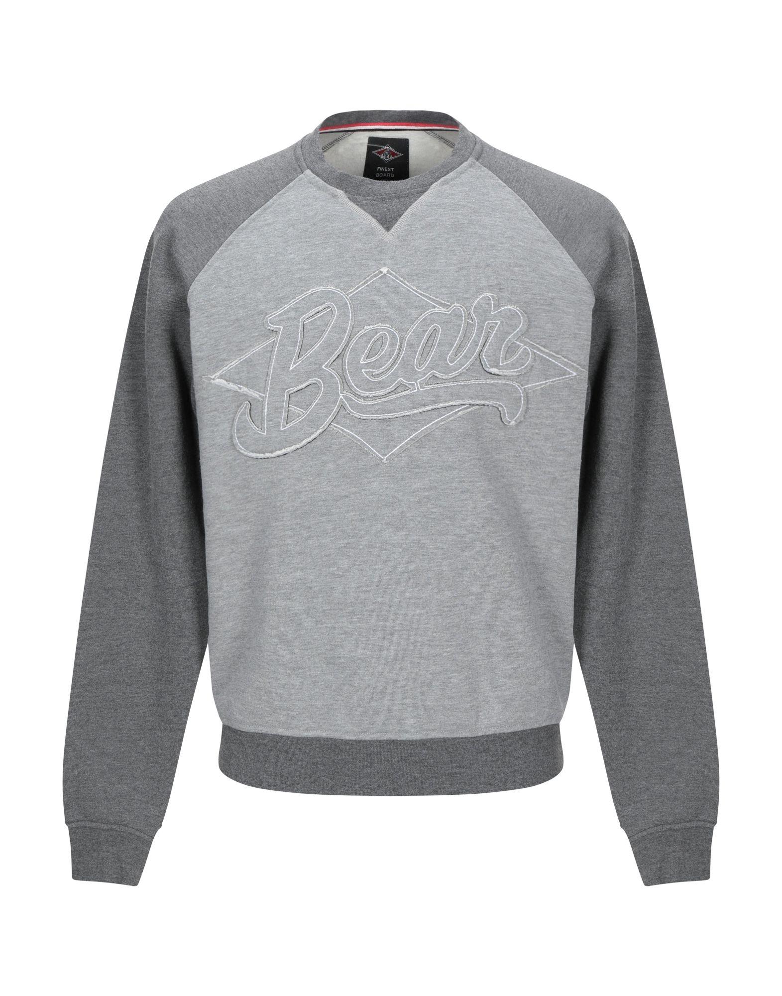 《セール開催中》BEAR メンズ スウェットシャツ グレー L ポリエステル 70% / コットン 30%