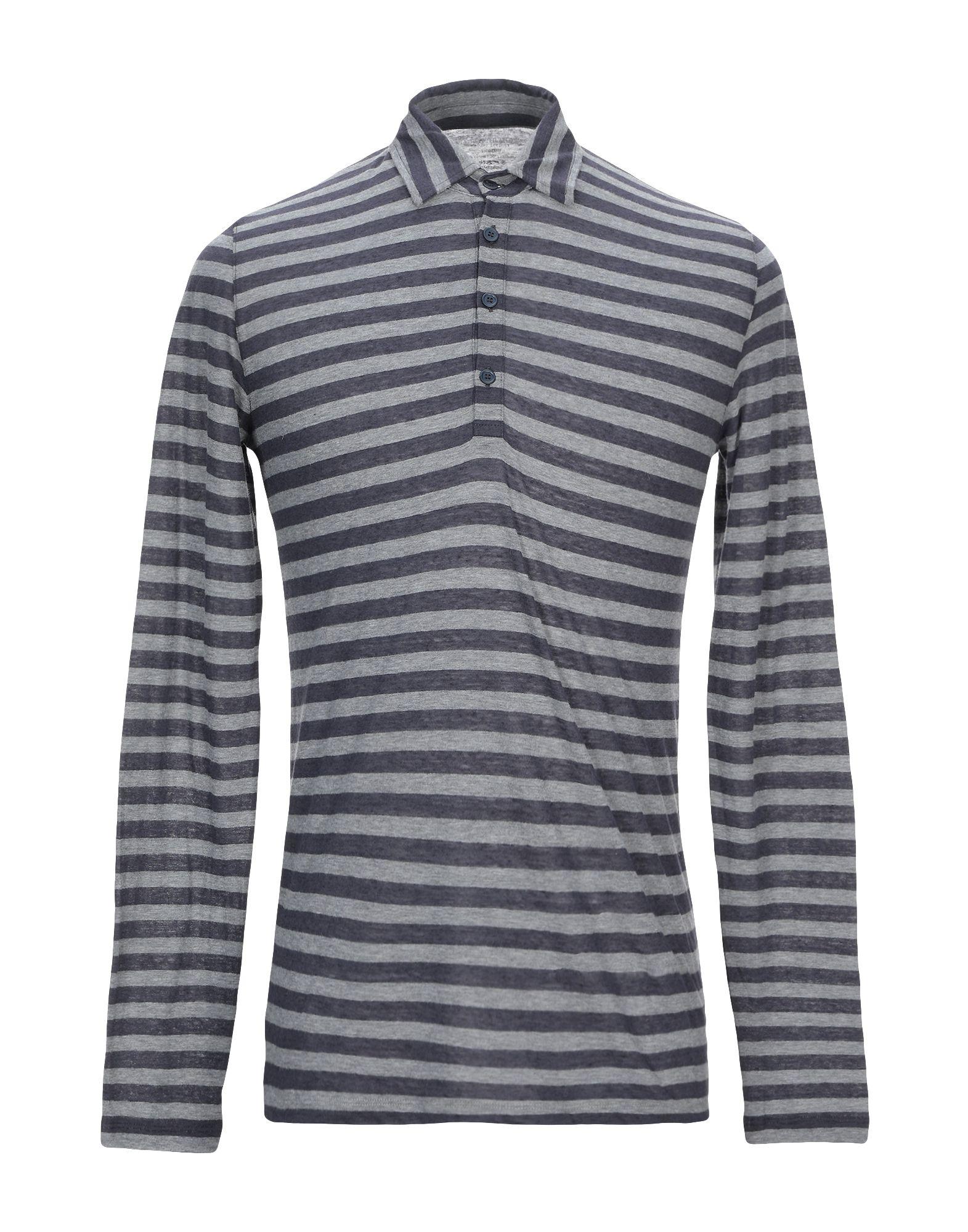 《期間限定セール開催中!》MAJESTIC FILATURES メンズ ポロシャツ グレー M コットン 70% / カシミヤ 30%