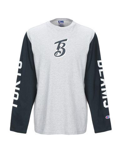 Фото - Женскую футболку BEAMS® by CHAMPION® серого цвета