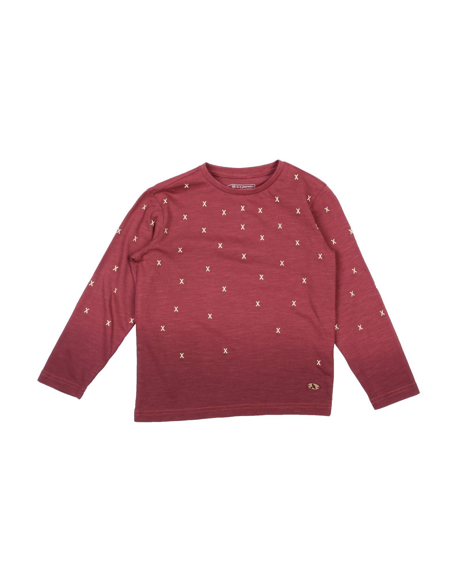Sp1 Kids' T-shirts In Burgundy