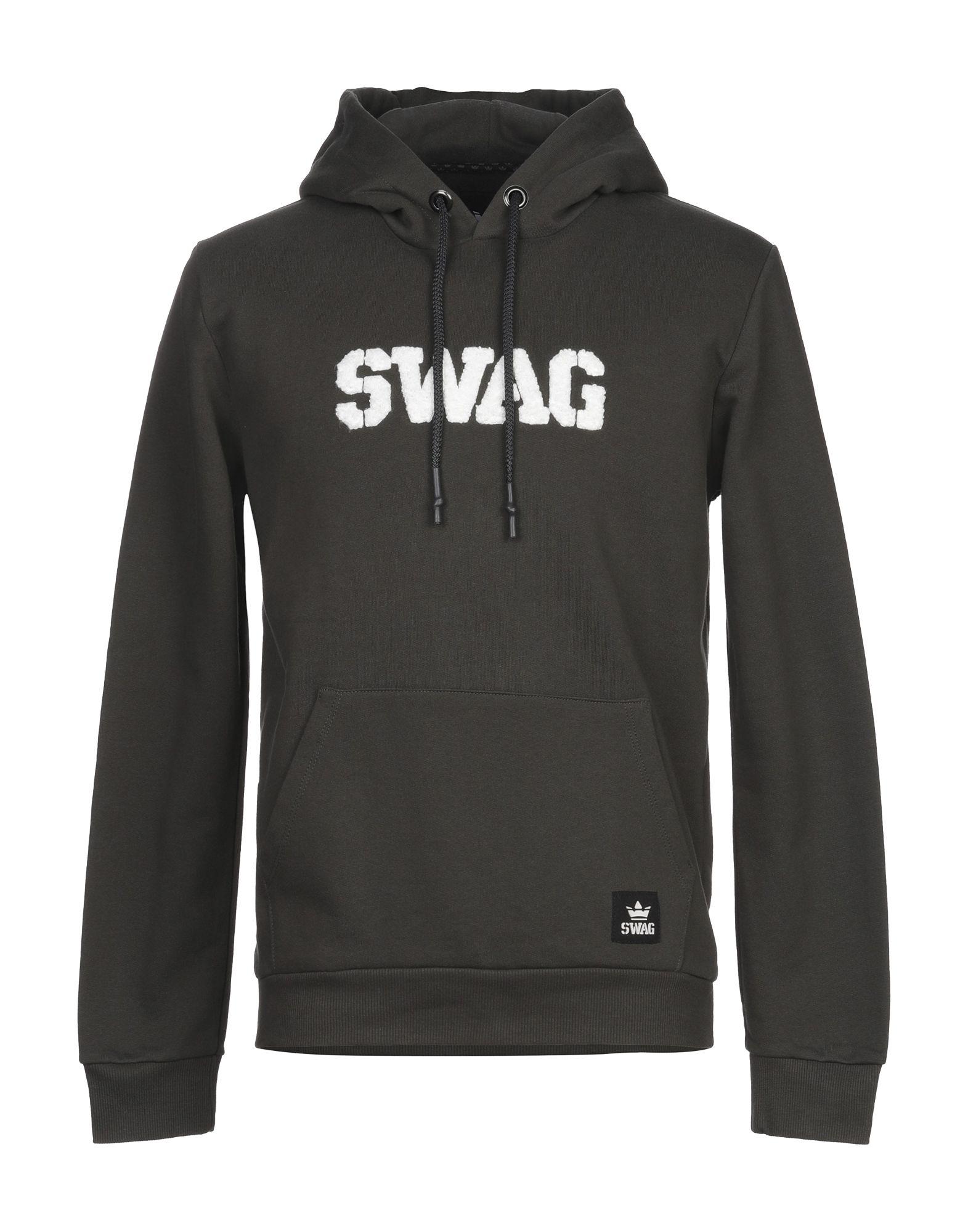 《セール開催中》SWAG メンズ スウェットシャツ ミリタリーグリーン S コットン 100%
