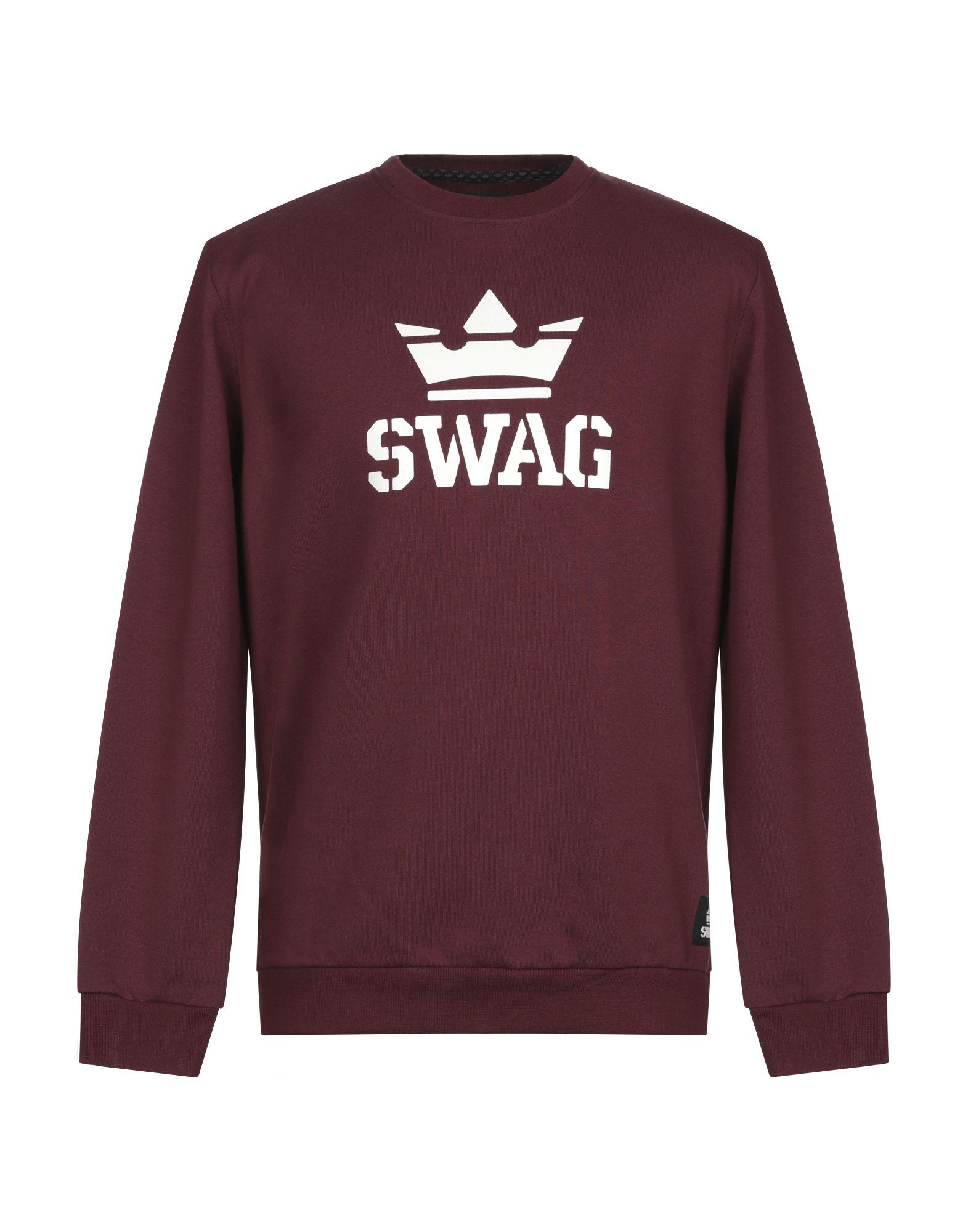 《セール開催中》SWAG メンズ スウェットシャツ ボルドー S コットン 100%