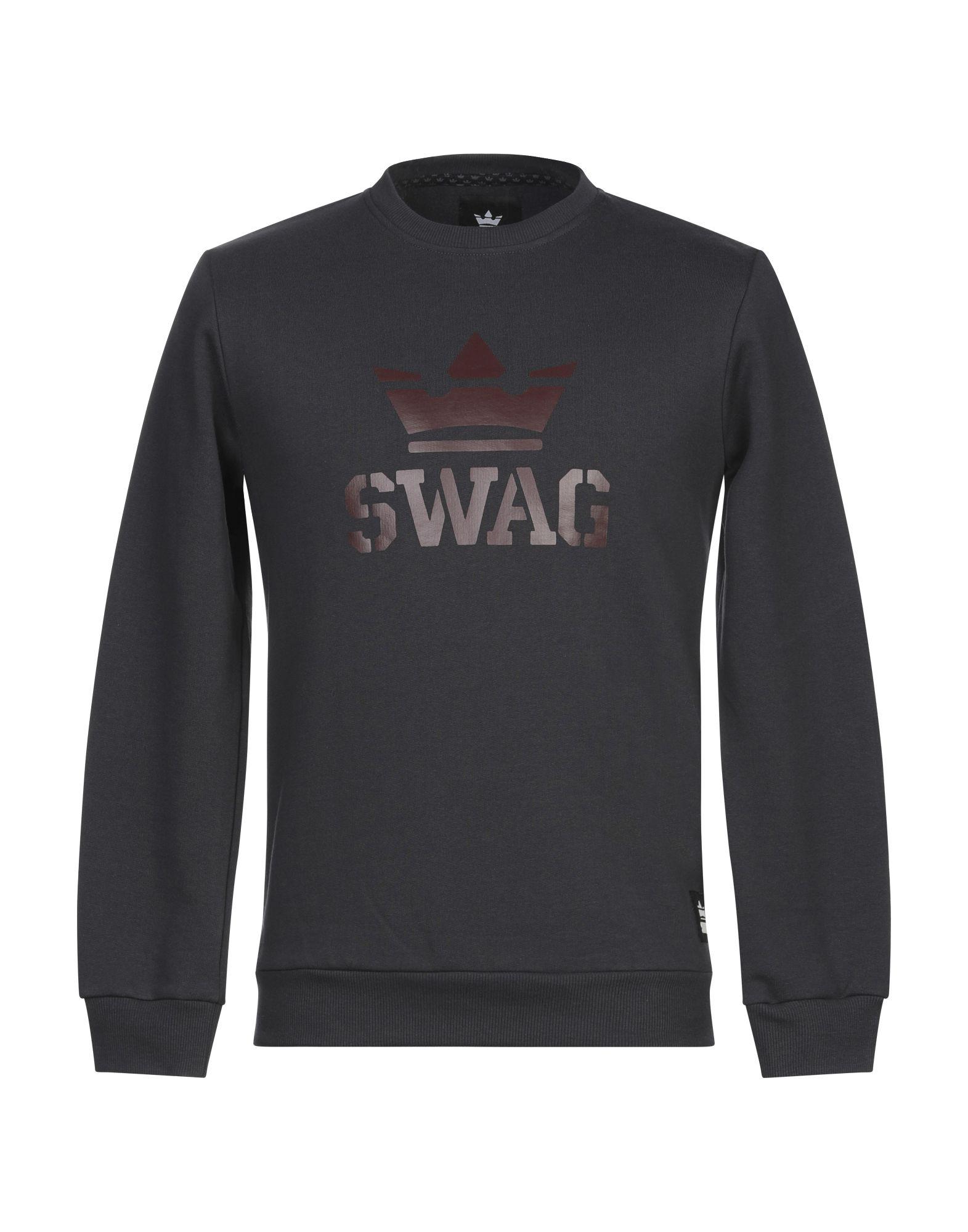 《セール開催中》SWAG メンズ スウェットシャツ スチールグレー S コットン 100%