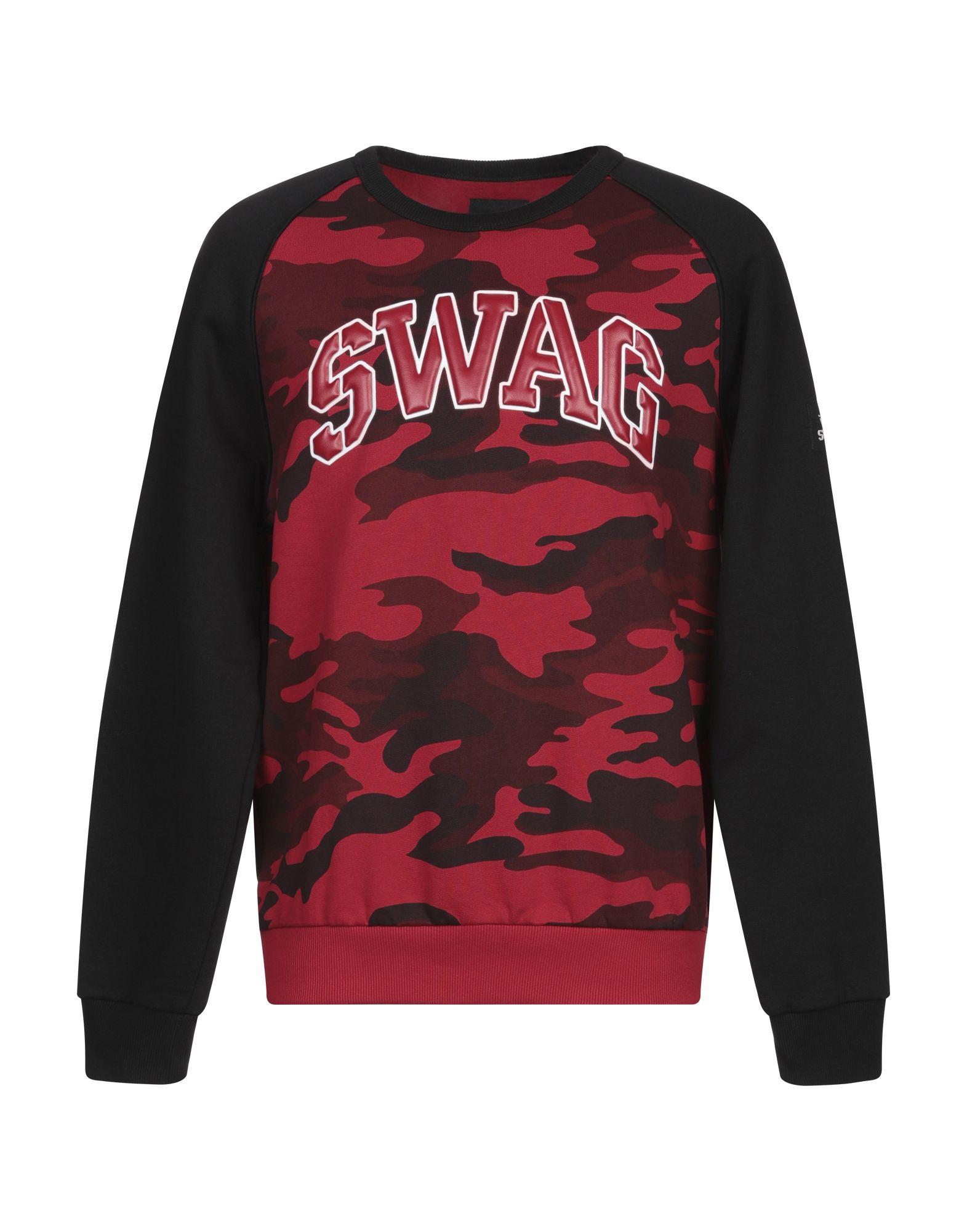 《セール開催中》SWAG メンズ スウェットシャツ ボルドー L コットン 100%