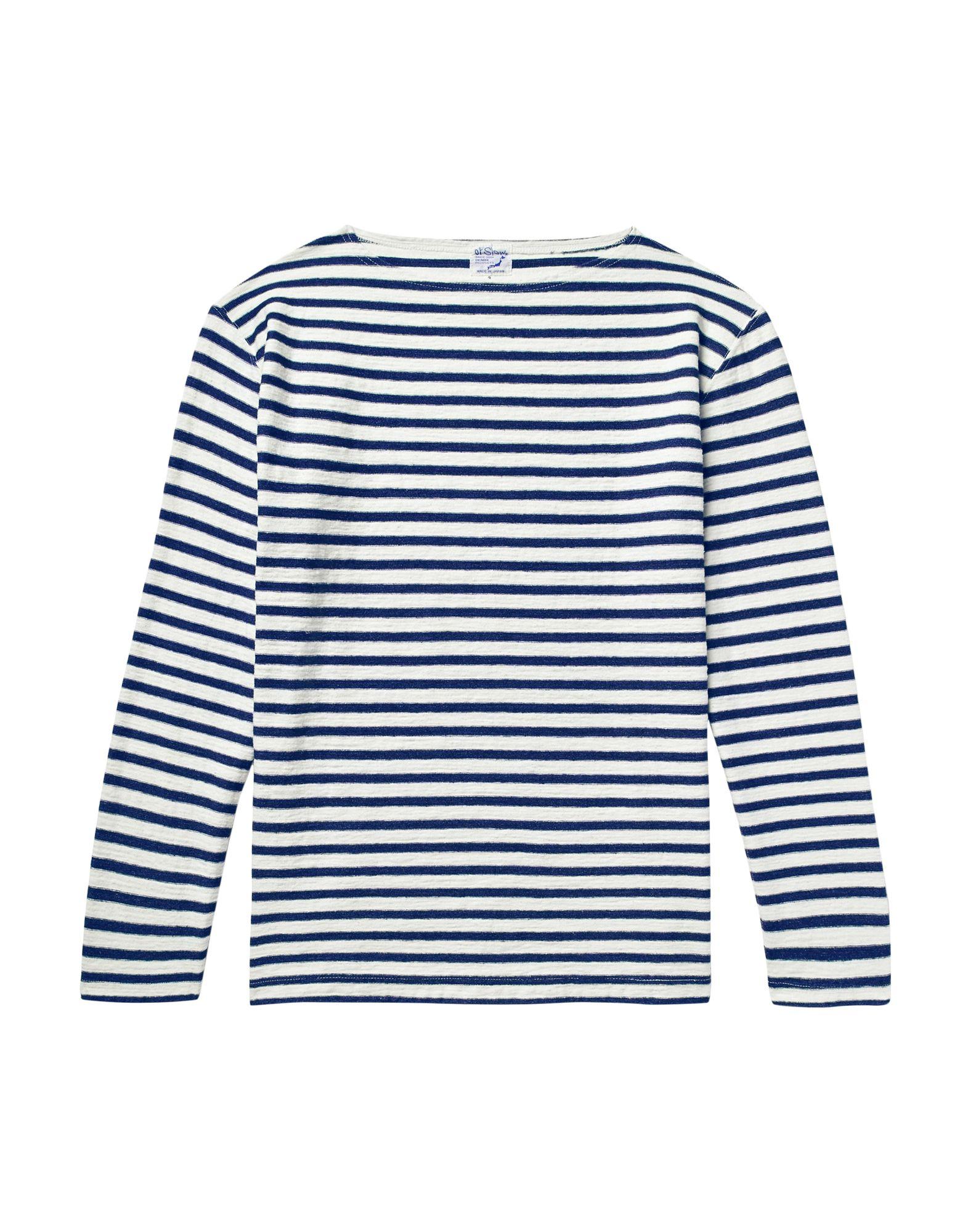 《セール開催中》ORSLOW メンズ T シャツ ブルー 5 コットン 100%