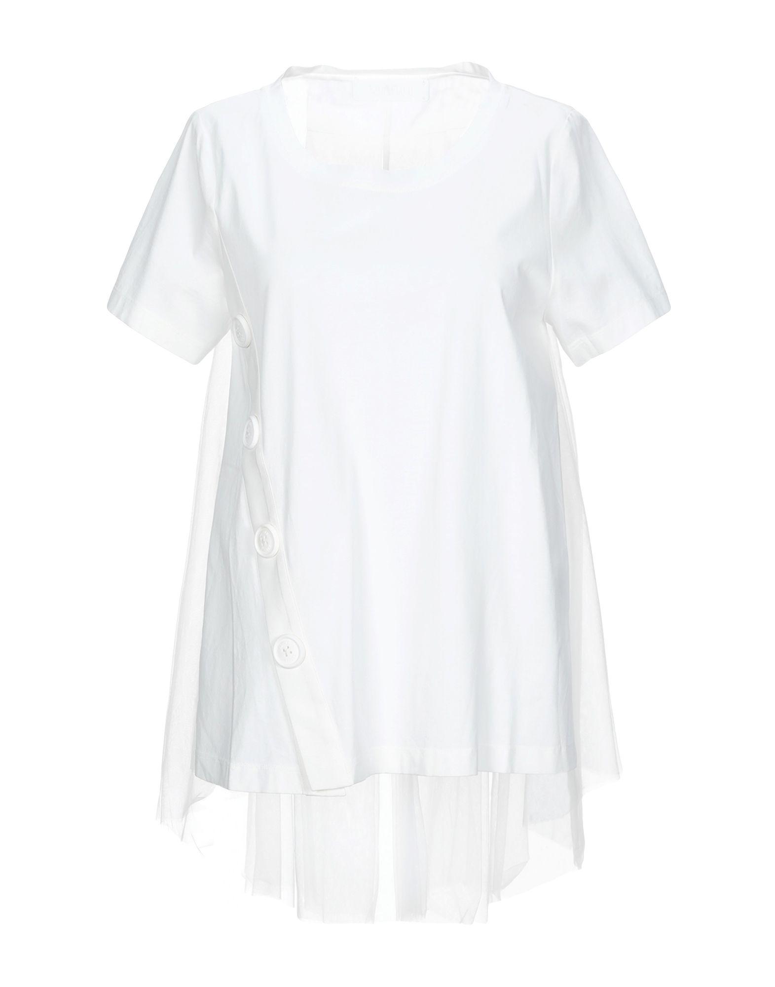 《期間限定セール開催中!》XIAOLI レディース T シャツ ホワイト S コットン 100% / ナイロン
