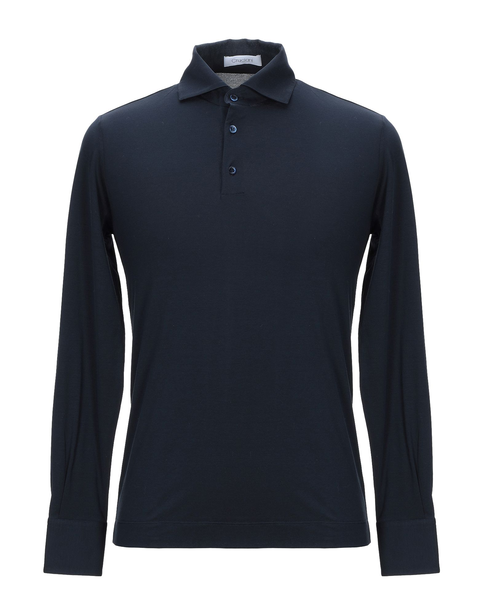 《セール開催中》CRUCIANI メンズ ポロシャツ ダークブルー 56 コットン 92% / ポリウレタン 8%