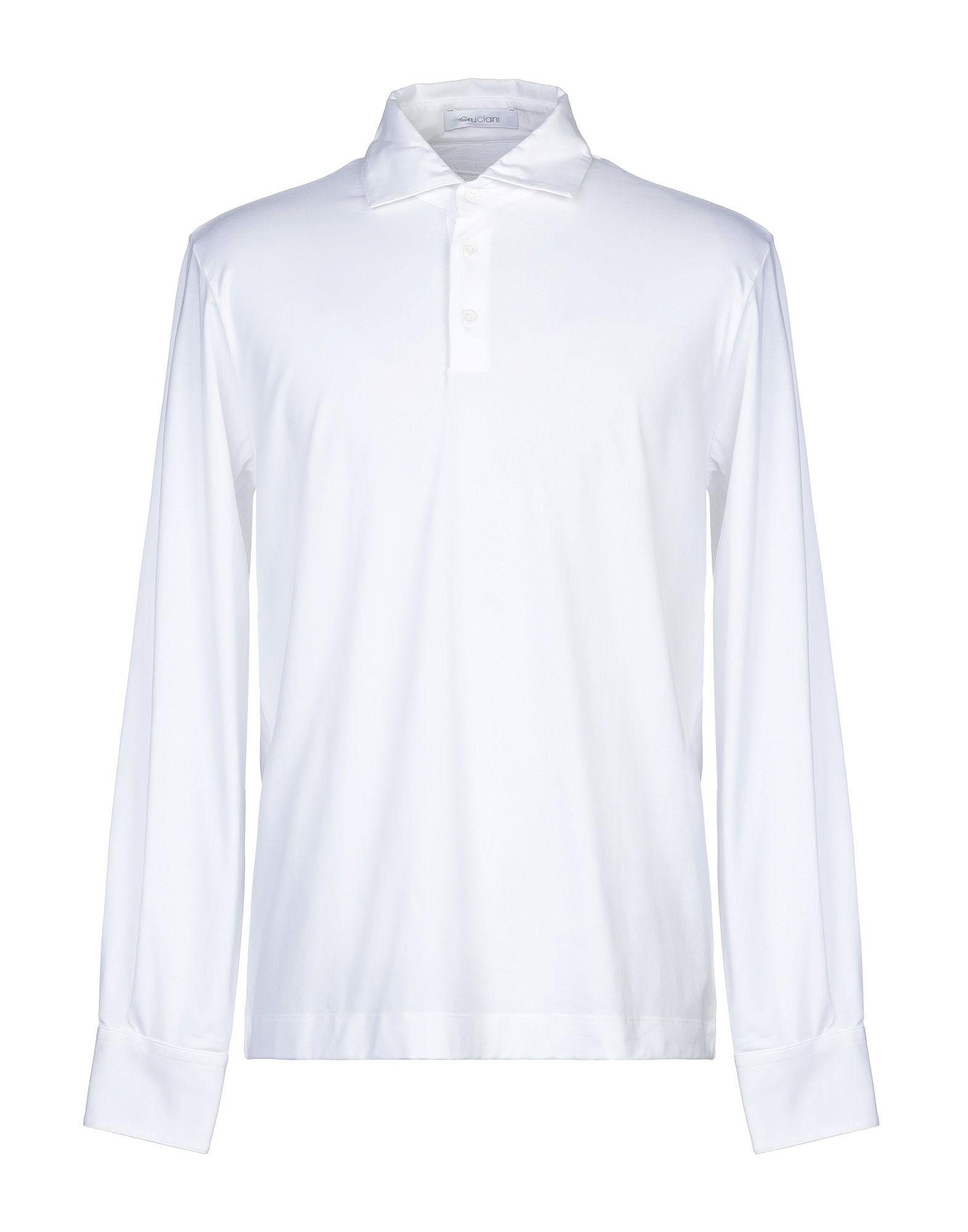 《セール開催中》CRUCIANI メンズ ポロシャツ ホワイト 48 コットン 92% / ポリウレタン 8%