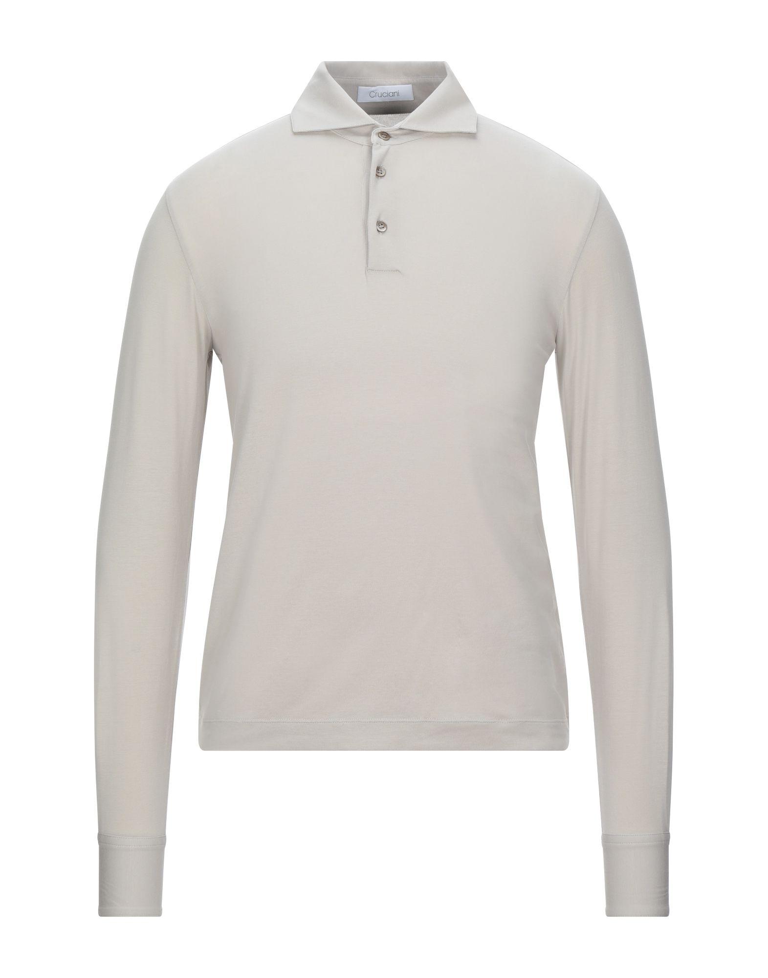《セール開催中》CRUCIANI メンズ ポロシャツ ライトグレー 50 コットン 92% / ポリウレタン 8%