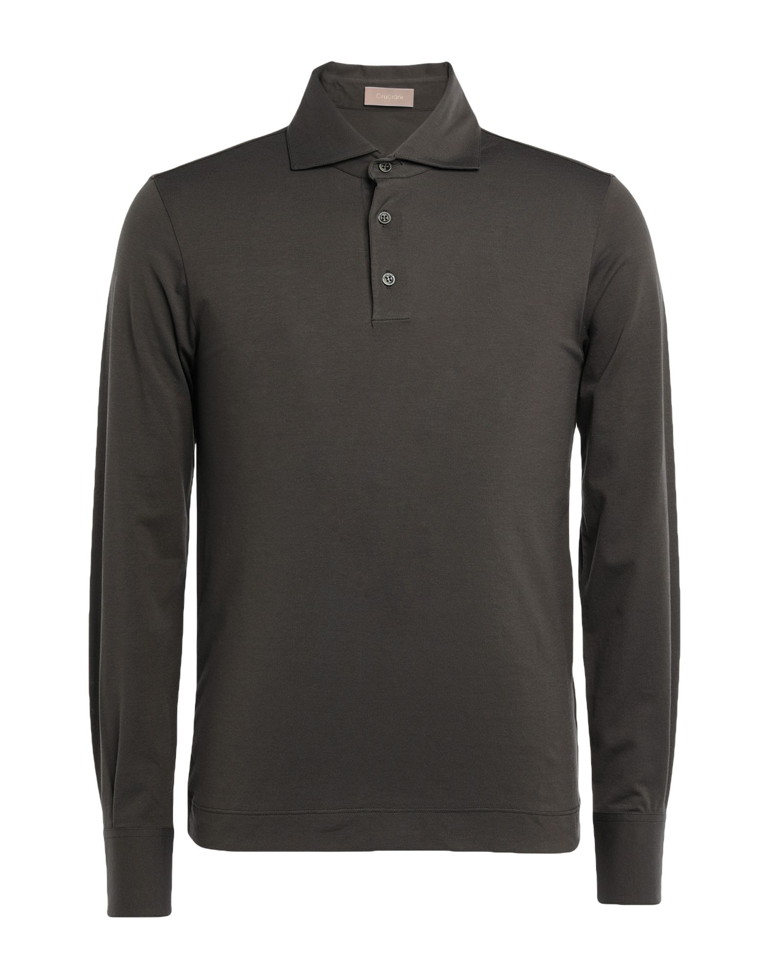 《セール開催中》CRUCIANI メンズ ポロシャツ ダークグリーン 56 コットン 92% / ポリウレタン 8%